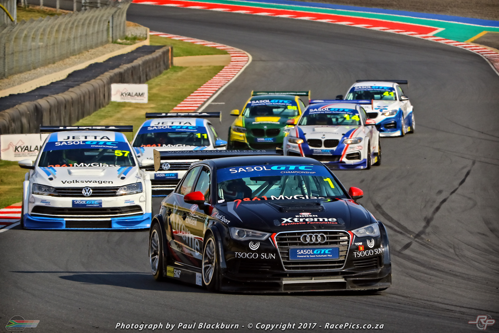 Michael Stephen (Engen Xtreme Audi) will lead the Global Touring Car championship going to the Zwartkops Raceway this weekend. Picture: RacePics.co.za
