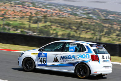 Quinton Needham making steady progress to the top of the VW Challenge series with another good result this past weekend at the Kyalami Grand Prix Circuit - Picture by Paul Blackburn