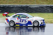 Difficult conditions saw Johan Fourie's exhibiting his talent behind the wheel of his EPS Courier Services BMW GTC at Zwartkops Raceway - Picture by Reynard Gelderblom