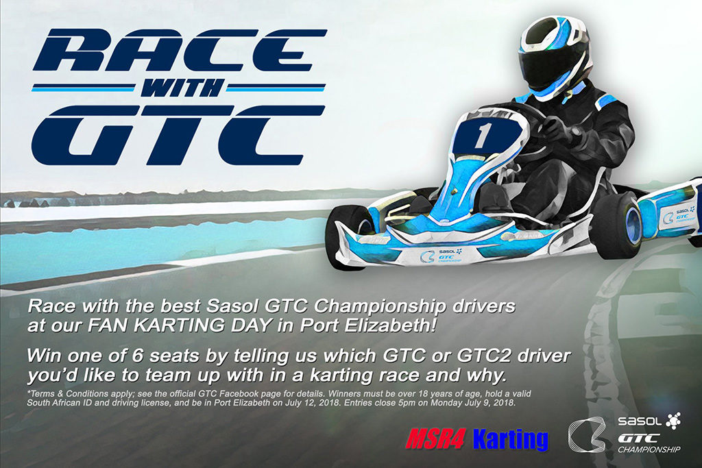 Official flyer for the #RaceWithGTC Fan Karting Competition - Image by Driven Productions
