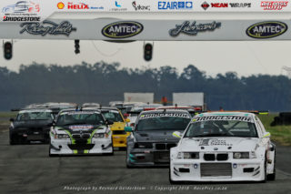 Julian Fameliaris leading the Bridgestone BMW Club Racing Series field - Picture by RacePics.co.za