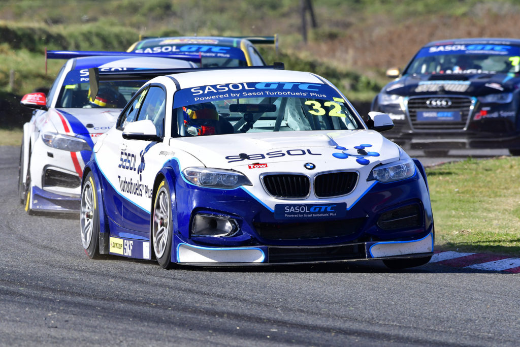 Gennaro Bonafede took his Sasol BMW to the opening Sasol Global Touring Car race victory - Picture by Dave Ledbitter.