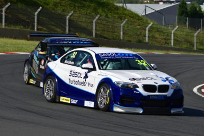 Gennaro Bonafede (Sasol BMW) and Michael Stephen (Engen Audi) will fight for Sasol Global Touring Car championship supremacy at Zwartkops. Picture: Dave Ledbitter