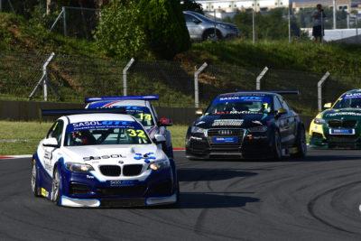 Gennaro Bonafede won Saturday's opening Sasol Global Touring Car race at Kyalami in his Sasol BMW - Picture by David Ledbitter