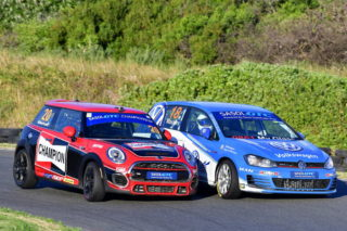 The GTC2 category should yield another huge fight between Devin Robertson (Champion Mini JCW) and Keagan Masters (VW Motorsport Golf GTI). Picture: Dave Ledbitter