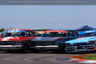 Saturday's SKF Pre-1966 Legend Saloon Car races should feature huge spectacle, with the Pablo Clark Ford Galaxies of Sarel van der Merwe and Paulo Cavalieri at the front end - Picture by RacePics.co.za