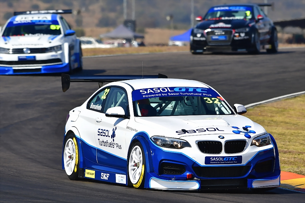 Gennaro Bonafede (Sasol BMW) left the Zwartkops circuit as the season's Sasol Global Touring Car championship leader