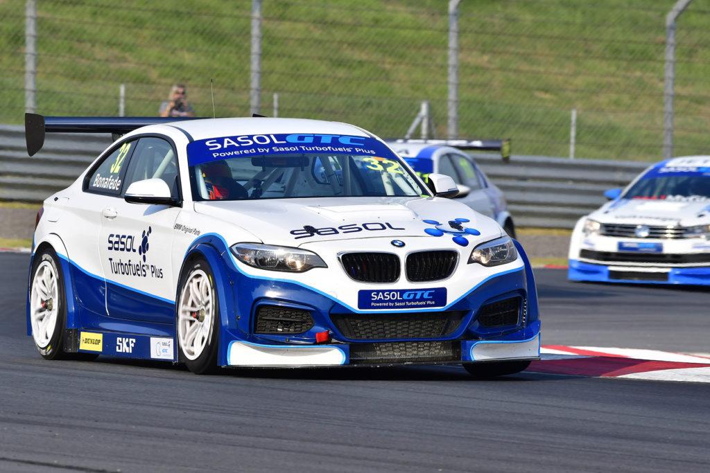 Gennaro Bonafede (Sasol BMW) won Saturday's opening Sasol Global Touring Car race at Kyalami. Picture: Dave Ledbitter