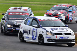 Rory Atkinson (BHIT Polo) will be the man to watch in Saturday's MotorMart VW Challenge races at Zwartkops. Picture: Paul Bedford.
