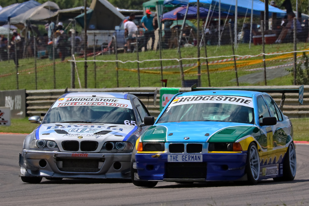 Andreas Meier (#TrainedAmateurs BMW E36 STC Car) and Jan Eversteyn (Big Boss Auto/African Surprise BMW E46 M3)
