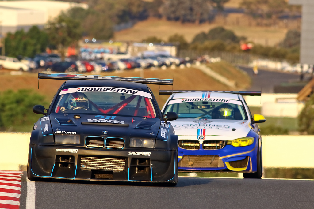 Lorenzo Gualtieri (SavSpeed BMW E36 328i Turbo) and Paulo Loureiro (Combined Racing BMW F30 335i)