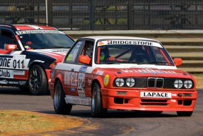 Class E leader Carlos Gameiro (Lapace Racing BMW E30 325i)