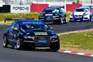 Michael Stephen (Engen Audi) won both of Saturday's Sasol Global Touring Car races at Killarney. Picture: Dave Ledbitter.