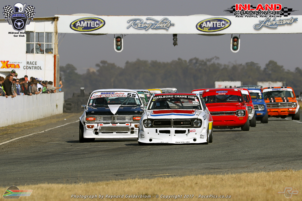 Midvaal Historic Car Club led by Seef Fourie