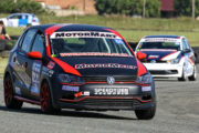 Quinton Needham was one of the start performers at Midvaal Raceway in his MotorMart Volkswagen Polo - Picture by Reynard Gelderblom