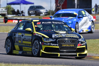 Simon Moss (All Power Audi) won Saturday's opening race for Global Touring Cars at Zwartkops. Picture: Dave Ledbitter.