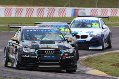 Michael Stephen took his Engen Audi to both of Saturday's race victories at Zwartkops, clinching the 2018 Sasol Global Touring Car title in the process. Picture: RacePics.co.za
