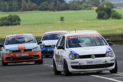 Stiaan Kriel to the MotorMart Racing Team's maiden win at Red Star Raceway. Picture: Reynard Gelderblom