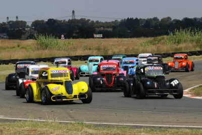 The Liqui Moly INEX Legends field contested Round 3 of the 2019 championship at Midvaal Raceway. Picture: Reynard Gelderblom