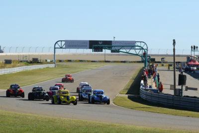 The Phakisa Freeway hosted three action-packed INEX Legends races. Picture: Reynard Gelderblom