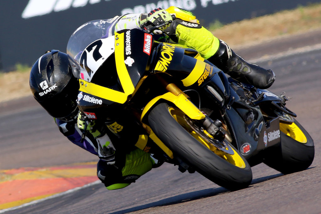 Savannah Woodward on her Monroe Racing Kawasaki ZX6 - Picture by Paul Blackburn