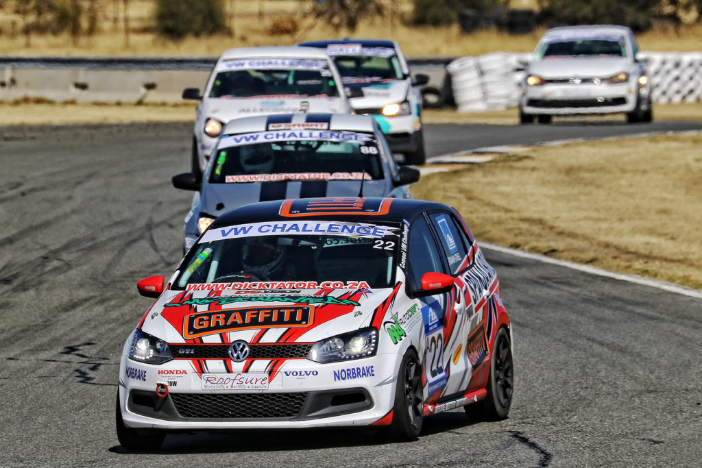 Stiaan Kriel would like to take his Spanjaard Volkswagen Polo back to the front of the VW Challenge field at Red Star Raceway