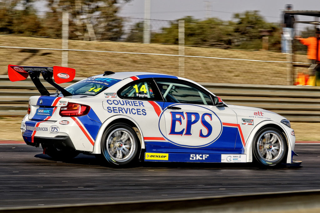 Johan Fourie during his inspiring pursuit of Michael Stephen at Zwartkops Raceway - Picture by Reynard Gelderblom