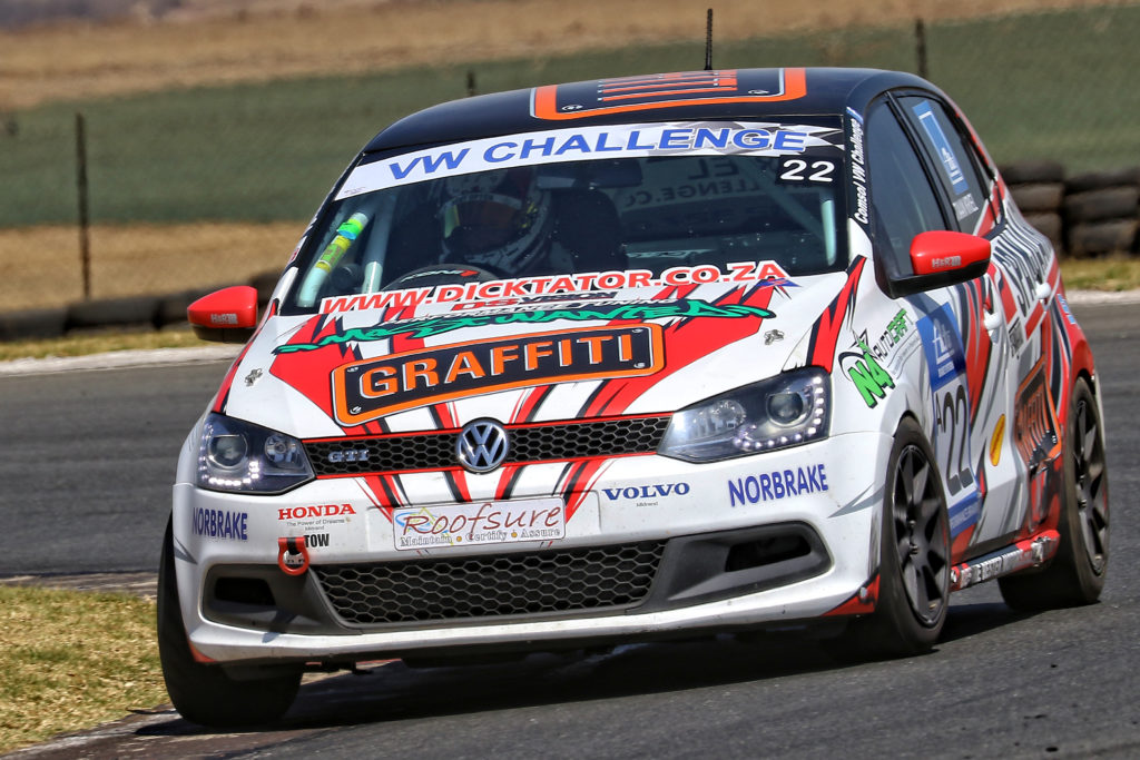 Stiaan Kriel is up for the challenge of his first race at Midvaal Raceway in the Spanjaard Volkswagen Polo - Picture by Reynard Gelderblom