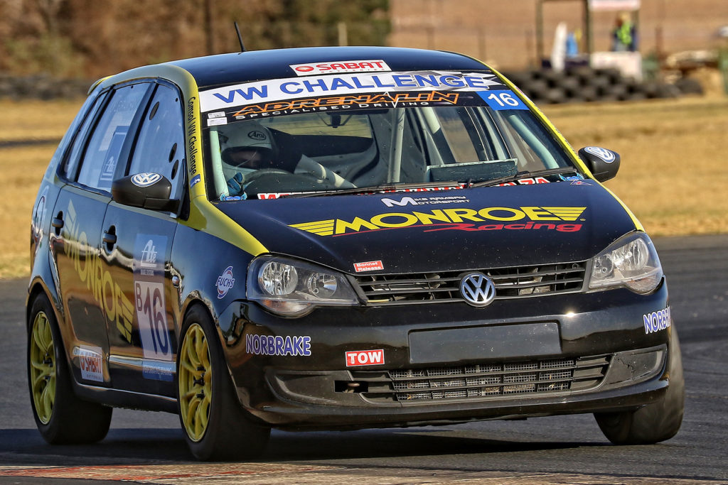 A host of recent podiums sees Lyle Ramsay confident behind the wheels of his Monroe Racing Volkswagen Polo - Picture by Reynard Gelderblom