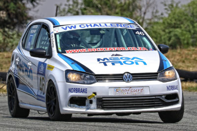 Despite some challenges, Quinton Needham in his Megatron Volkswagen Polo impressed on his Class A debut - Picture by Reynard Gelderblom