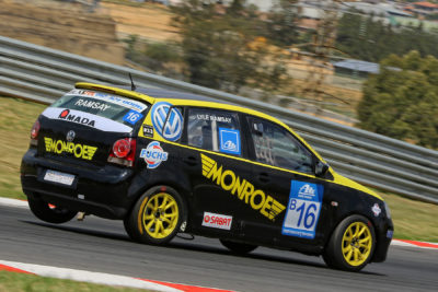 Kyalami witnessed another strong performance by Lyle Ramsay in his Monroe Racing South Africa Volkswagen Polo - Picture by Paul Blackburn
