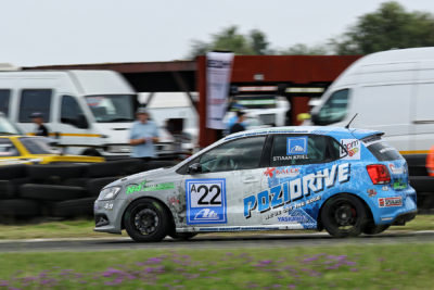 While being the pick of the pack during Round 1, Stiaan Kriel knows that in order for him remain on top he needs to keep his Pozidrive/Kalex Volkswagen Polo at the front - Picture by Reynard Gelderblom