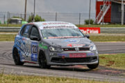 Stiaan Kriel dominant in the day's opening MotorMart VW Challenge race - Picture by Reynard Gelderblom