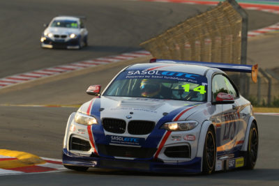 Johan Fourie in action during his previous visit to the Kyalami Grand Prix Circuit where he recorded his maiden Sasol GTC race victory - Picture by Reynard Gelderblom