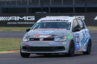 Stiaan Kriel will aim to take his Pozidrive / Kalex Volkswagen Polo to the front of the Class A points table again at the Killarney International Raceway - Picture by Reynard Gelderblom