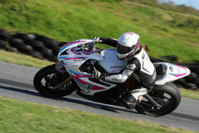 Nicole van Aswegen riding her Motorsport South Africa Women in Motorsport Triumph Daytona 675 around the windy Border Motorsport East London Grand Prix Circuit - Picture by Reynard Gelderblom
