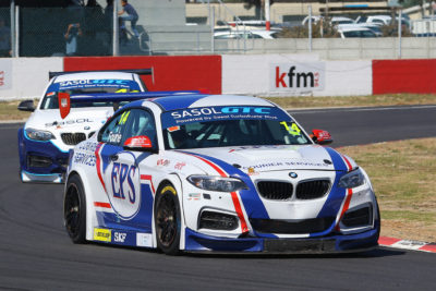 Johan Fourie during the first Sasol GTC race at the Killarney International Raceway - Picture by Reynard Gelderblom
