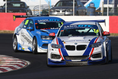 Johan Fourie is confident about the performance of his EPS Racing BMW around Zwartkops Raceway - Picture by Heinrich Sauer