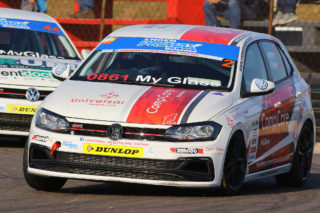 Jeffrey Kruger bagged a podium in the day's second Engen Polo Cup race - Picture by Paul Blackburn