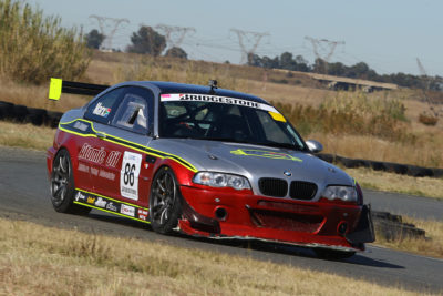 Antonie Marx had to work his way from almost at the back of the field during both races at Midvaal Raceway - Picture by Reynard Gelderblom