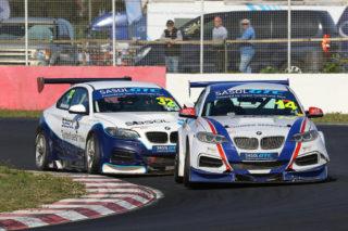 Johan Fourie and Gennaro Bonafede resuming their battle in Race 2 - Picture by Reynard Gelderblom