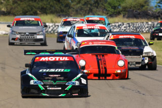 Race 1 saw Marius Jacobs lead the opening laps. Picture: Paul Blackburn