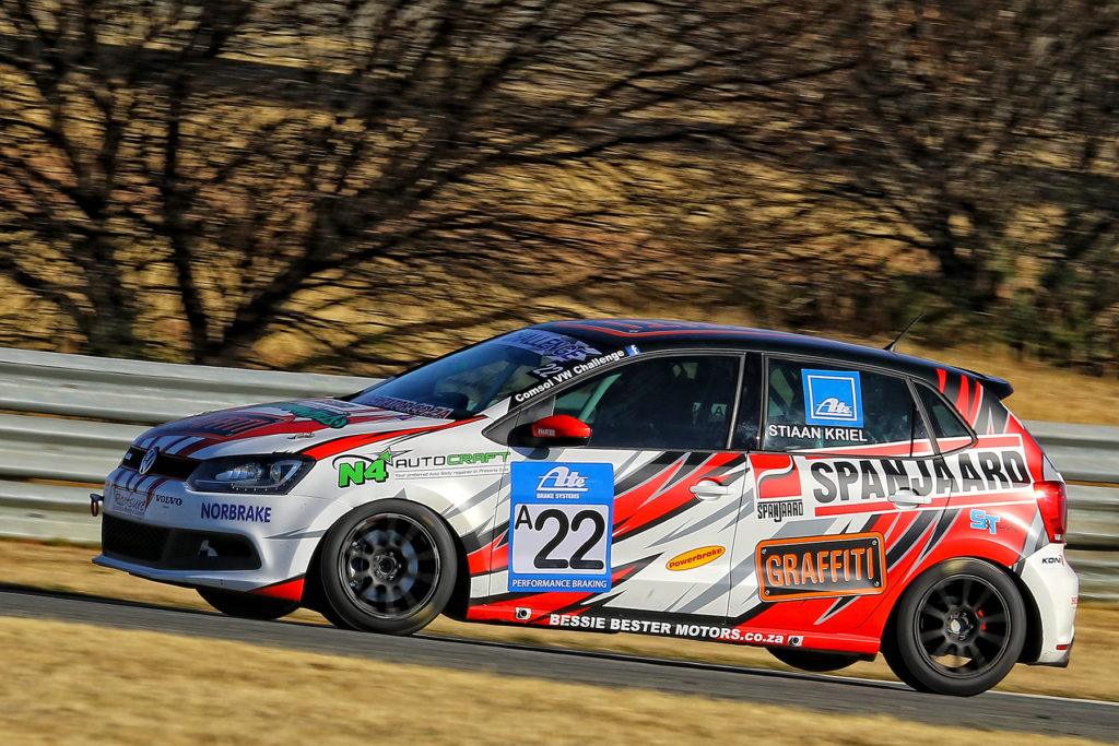Stiaan Kriel finished third overall in Round 5 of the VW Challenge - Picture by Reynard Gelderblom