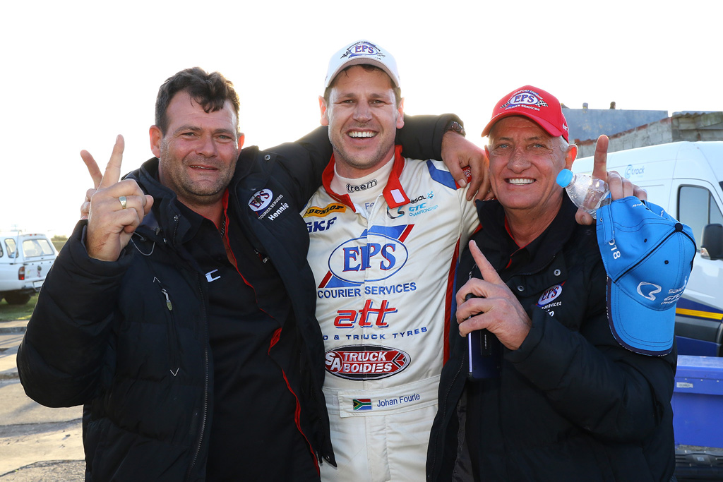 Victory is Round 4 of the Sasol GTC championship saw big smiles on the faces of the EPS Racing Team and created a positive atmosphere which they would like to maintain - Picture by Reynard Gelderblom