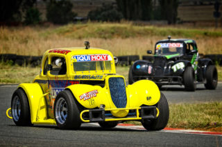 Jagger Robertson moved into third place in the championship after a good day at Midvaal Raceway. Picture: Reynard Gelderblom