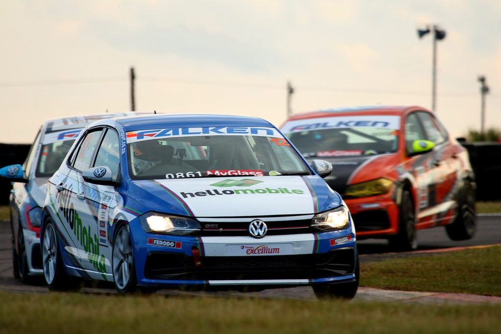 Liebenberg leads Kruger and Campos ahead of Race 3 victory. Picture: Raymond Cornwell