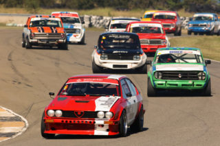 The field of Midvaal Historics that joined the Clubmans category. Picture: Paul Blackburn