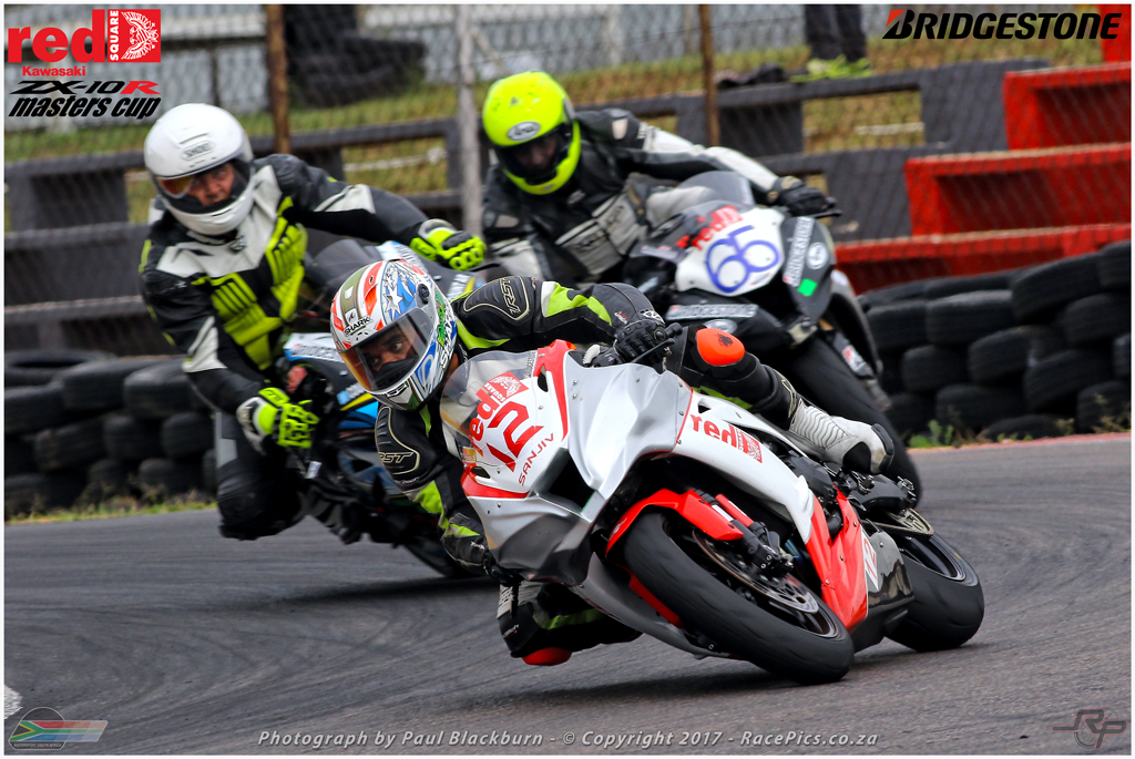 Topping the motorcycle racing programme will be races for the Red Square Kawasaki Masters brigade. Picture: RacePics