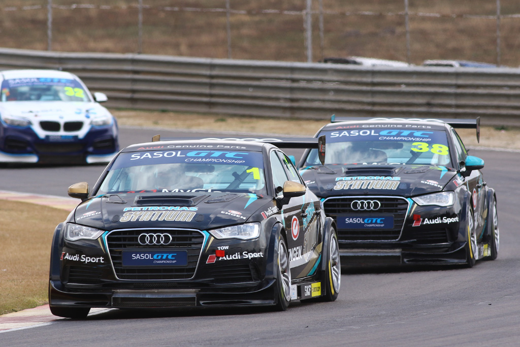 Michael Stephen (Engen Audi) will be the favourite to clinch the year's Sasol Global Touring Car title at Zwartkops. Picture: RacePics.co.za