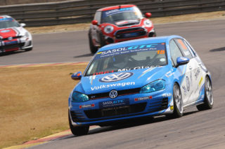 Keagan Masters (VW Motorsport Golf GTI) will lead the GTC2 championship chase, going to cape Town - Picture by RacePics.co.za